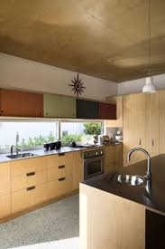 eco friendly house floating kitchen cabinets with colorful
