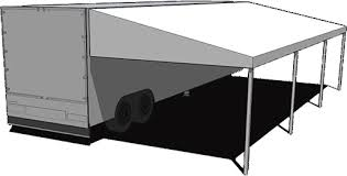 Trailer Awning Holiday Industries Motorsports Awnings Frame Styles