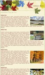 my newsletter builder examples for seasonal templates email