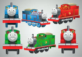 thomas train vectors download free vector art stock