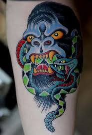 gorilla traditional tattoo traditional tattoo gorilla tattoo