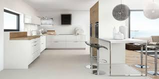 cuisine blanc laqué et bois ambiances cuisines nos cuisines de style contemporain
