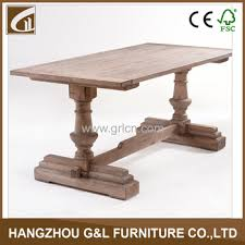 Solid Oak Dining Room Furniture French Country Style Antique Solid Oak Wood Dining Table Dining