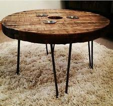 round hairpin coffee table wooden reel dining table round hairpin by sibusfurnituredecor