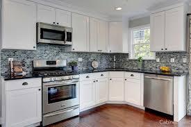 small white modern kitchen backsplash for white kitchen cabinets