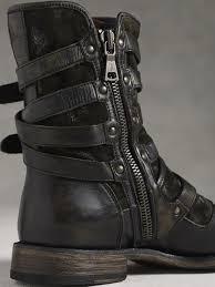 engineer motorcycle boots john varvatos engineer triple buckle boot in gray for men lyst