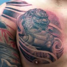 16 foo dog tattoos on chest
