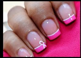 breast cancer awareness nail art pink nail tutorial youtube