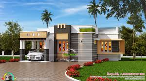 contemporary single floor home cool small house images in kerala
