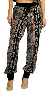 apple bottoms apple bottoms jr plus aztec print chiffon jogger pant bermo