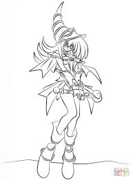 dark magician from yu gi oh coloring page free printable