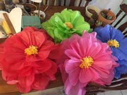 mom taxi julie giant hibiscus tissue paper flowers