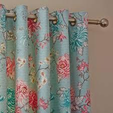 Duck Egg Blue Floral Curtains Best 25 Blue Eyelet Curtains Ideas On Pinterest Eyelet Curtains
