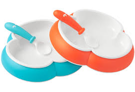 baby plates baby plate and spoon orange turquoise 2 pack