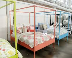 bedroom gorgeous ikea dorm bedding with four poster bed and