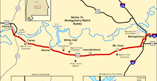 selma map map of the week the selma march byway