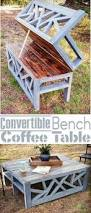 Traditional Octagon Picnic Table Plans Pattern How To Build A by Folding Picnic Table To Bench Seat Free Plans How Awesome Is