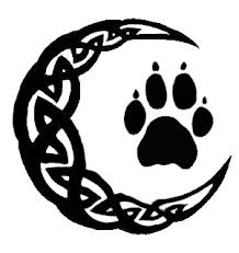 celtic moon with wolf paw by morphyvy on deviantart