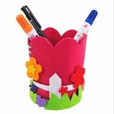 creative diy craft kit handmade pen container pencil holder kids