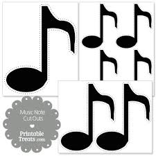 cut outs printable black note cut outs printable treats