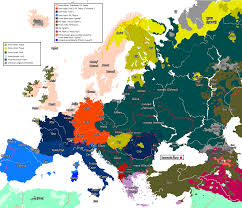 Europe 1815 Map by The Word For U0027head U0027 In Different European Languages Maps