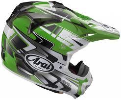 green motocross helmet arai vx pro4