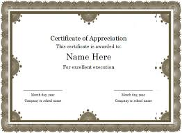 sample text for certificate of appreciation word certificate template 44 free download samples examples