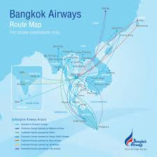 Air Canada Flight Map by Route Map Bangkok Airways