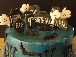 graveyard halloween birthday cake cakecentral com