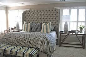 Leather Headboard Platform Bed Bedroom Leather Sleigh Bed King Size Headboard And Footboard