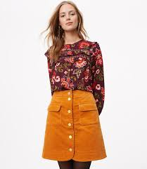 corduroy skirts corduroy button skirt loft