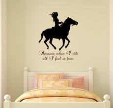 girls bedroom wall decals charming wall decals for girl bedroom and horse decal quote