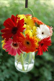 Mason Jar Vases For Wedding Flower Diy Bouquets In Hanging Mason Jars