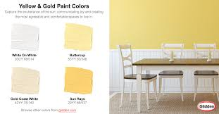 yellow u0026 gold paint colors