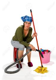 house keeping a tired young woman hates the housekeeping stock photo picture