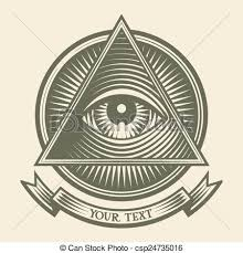 all seeing eye vector human eye in engraved style eps8