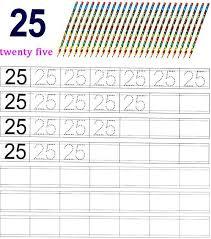 worksheet on number 25 preschool number worksheets number 25