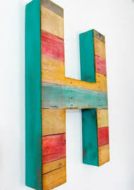 wood letter wall decor how to decorate wooden letters for ba room