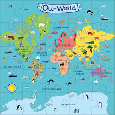 Europe Map Puzzle by Our World Jumbo Puzzle Mudpuppy