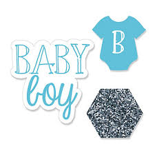 baby boy baby shower baby boy shaped party paper cut outs bigdotofhappiness