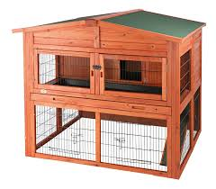 Bunny Cages Amazon Com Trixie Pet Products Rabbit Hutch With Attic Xl 53 X