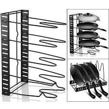 rangement ustensiles cuisine cuisine rangement rack pan pot couvercle organisateur étagère