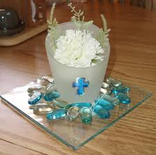 Centerpieces For Boy Baptism by Communion Party Centerpieces All From Dollar Tree Party Ideas