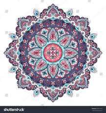 beautiful indian floral paisley seamless ornament stock vector