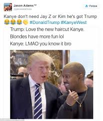 Kanye And Jay Z Meme - memes mock donald trump s meeting with kanye west daily mail online