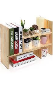 Desk Storage Organizers Adjustable Wood Desktop Storage Organizer Display Shelf