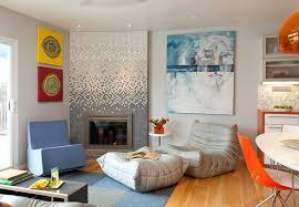 Yellow Fireplace Modern Fireplace Tile Ideas