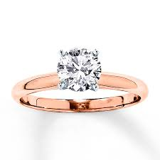 gold 1 carat engagement rings solitaire engagement ring 1 carat 14k gold