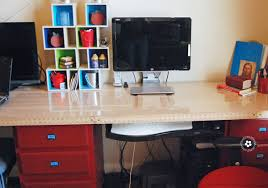 Build A Wood Desk Top by Diy Kids Computer Desk Station Onecreativemommy Com