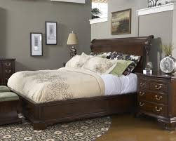 QueenSize Charleston Platform Panel Bed With Rounded Headboard By - Charleston bedroom furniture